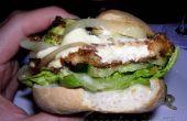 Hamburger végétarien haloumi avec toutes ses parures !