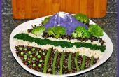 Végétalien paysage repas