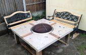 Poli béton Fire Pit Table