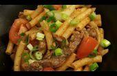Style asiatique Stir Fry pâtes
