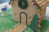 Maison de cookie avec lumières de Noël