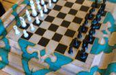 Un compartiment secret dans la Table d'échecs avec 9 déplacer touche combo!!!