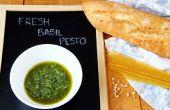 Pesto de basilic frais fait maison (Pesto vert)
