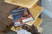 Stand magazine du bois récupéré