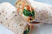 Saine riche en protéines Hummus artichaut Wrap