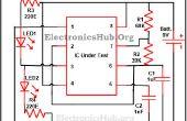 Circuit de test 555 timer IC