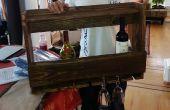 Porte-bouteilles à l'aide de bois récupéré