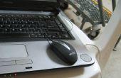 Passage de la souris sur ordinateur portable