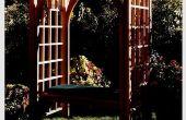 Comment construire un treillis de jardin avec banquette