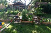 Construire un jardin surélevé sur une colline.