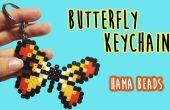 Porte-clés avec perles Hama de papillon