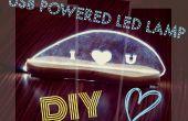 Lampe de bureau LED DIY perspex