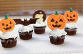 Toppers Cupcake chocolat citrouille Halloween