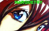 Marqueterie placage bois Manga