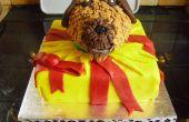 Chien en gâteau présente