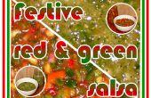 Rouge et vert Salsas festive