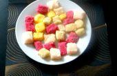 Saveur de cubes de sucre arc-en-ciel
