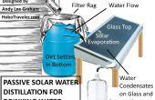 Distillation solaire de l'eau à l'aide de l'eau de pluie