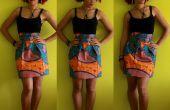 BRICOLAGE réunis africaine jupe imprimée + fermeture à glissière