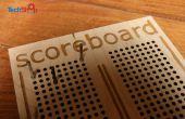 Lasercut Cribbage-style tableau de bord