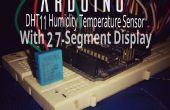 Arduino afficher la température et humidité avec afficheur 7 segments