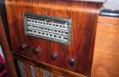 Restauration - nouvelle vie sur une conversion de radio des années 1930 éclaté