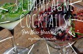 Comment faire 3 Cocktails au Champagne pour le nouvel an