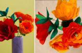 Crafts DIY : Comment faire du papier crépon Rose fleur