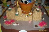 Rice Krispies Treats Sand Castle