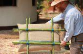 Isolation des murs en bambou