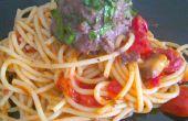 Farci aux épinards Spaghetti et boulettes de viande