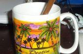 Une paille de cuivre pour le café, etc.