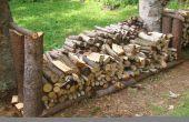 Rack bois rustique