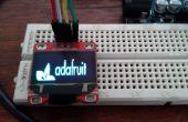 Arduino Serial Terminal Oled avec bibliothèque Adafruit SSD1306