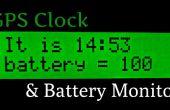 Super Horloge GPS précis & moniteur de batterie