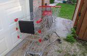 Remorque vélo chariot de shopping