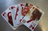 Cartes-cadeaux aménagé en cartes à jouer