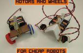 Moteurs et roues pour Robots pas chers