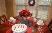 Table de petit déjeuner de Noël Dernière Minute & Decor rouge