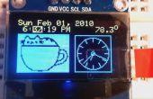 OLED DS3231 radio-réveil avec 2 boutons de réglage et d'affichage de la température