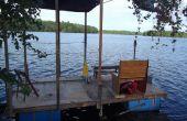 Bateau ponton maison