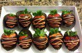 Enrobées de sain chocolat noir fraise