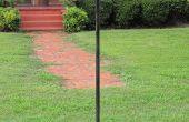 Simple poste de lampe solaire
