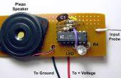 Sonde de tension avec ton et sorties LED