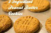 3 facile, sans faille, ingrédient Peanut Butter Cookies