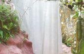 Rideau de douche--Silicone et Mat de fibre de verre