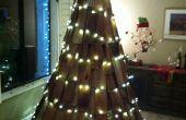 Arbres de Noël à partir de matériaux récupérés