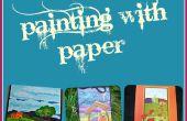 Peinture avec du papier