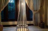 Facile élégant lamelle bois lampadaire