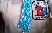 Une écharpe tricot doigt